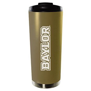 Baylor University-16oz. Stainless Steel Vacuum Insulated Travel Mug Tumbler-Gold