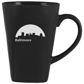 14 oz Square Ceramic Coffee Mug - Baltimore City Skyline