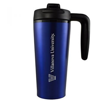Villanova University -16 oz. Travel Mug Tumbler with Handle-Blue