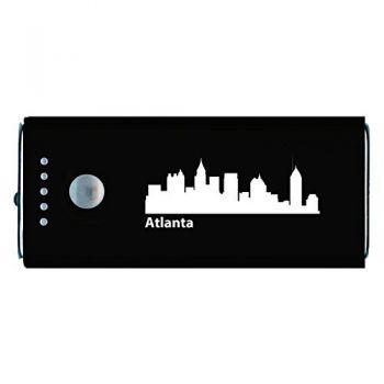 Quick Charge Portable Power Bank 5200 mAh - Atlanta City Skyline
