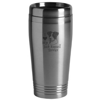 16 oz Stainless Steel Insulated Tumbler  - I Love My Jack Russel Terrier