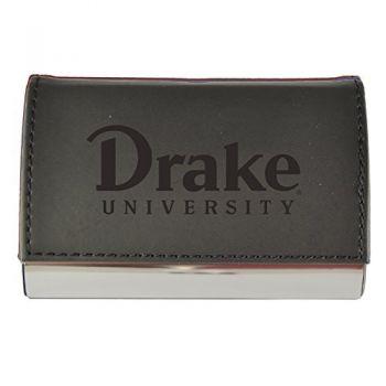 Velour Business Cardholder-Drake University-Black