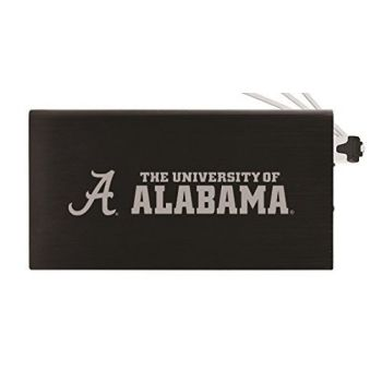 8000 mAh Portable Cell Phone Charger-University of Alabama -Black