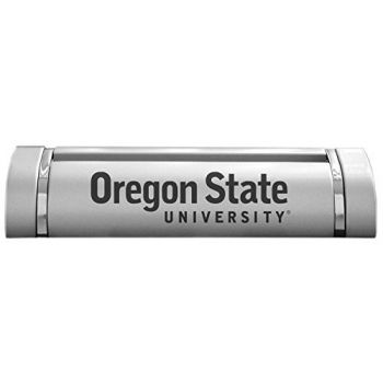 Oregon State University - Two-Tone Business Card Holder - Silver