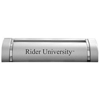 Rider University-Desk Business Card Holder -Silver