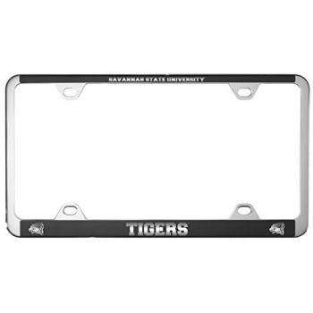 Savannah State University -Metal License Plate Frame-Black