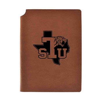Texas Southern University Velour Journal with Pen Holder|Carbon Etched|Officially Licensed Collegiate Journal|