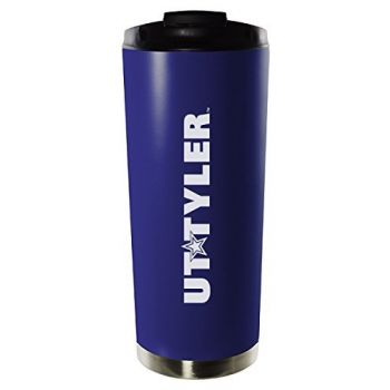 University of Texas at Tyler-16oz. Stainless Steel Vacuum Insulated Travel Mug Tumbler-Blue