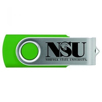 Norfolk State University -8GB 2.0 USB Flash Drive-Green
