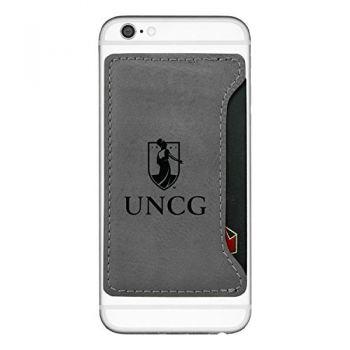 University of North Carolina at Greensboro-Cell Phone Card Holder-Grey