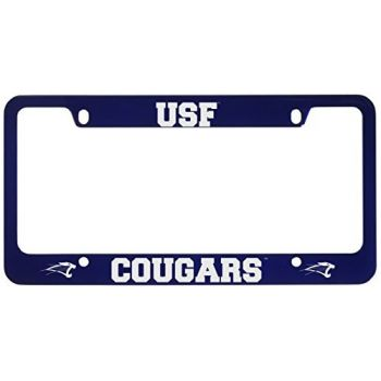 University of Saint Francis-Fort Wayne -Metal License Plate Frame-Blue
