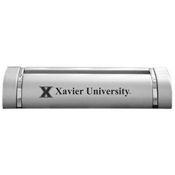 Xavier University-Desk Business Card Holder -Silver