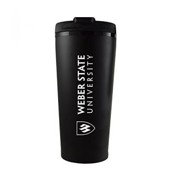 Weber State University -16 oz. Travel Mug Tumbler-Black