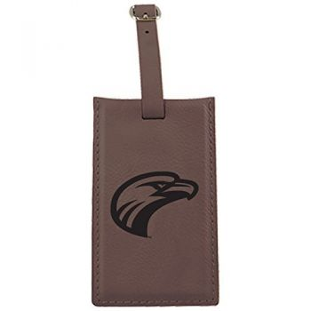 University of Louisiana at Monroe-Leatherette Luggage Tag-Brown