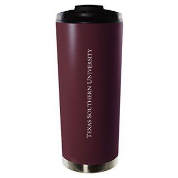 Texas Southern University-16oz. Stainless Steel Vacuum Insulated Travel Mug Tumbler-Burgundy