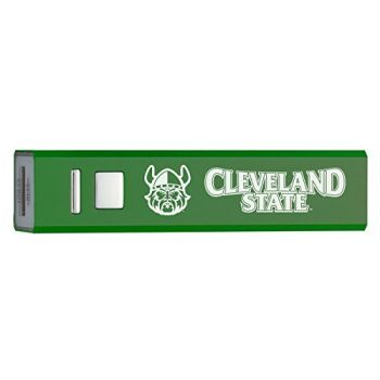 Cleveland State University - Portable Cell Phone 2600 mAh Power Bank Charger - Green