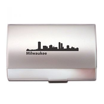 Business Card Holder Case - Milwaukee City Skyline