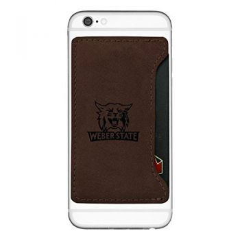 Weber State University-Cell Phone Card Holder-Brown