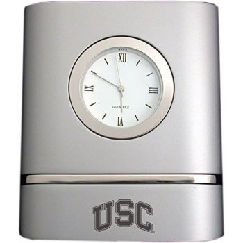 University of Southern California- Two-Toned Desk Clock -Silver