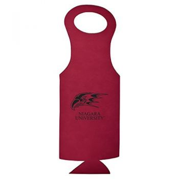 Niagara University-Velour Wine Tote-Burgundy