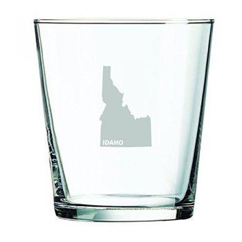 13 oz Cocktail Glass - Idaho State Outline - Idaho State Outline