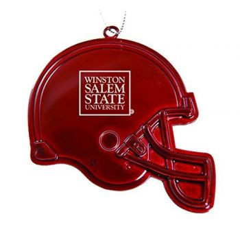 Winston-Salem State University - Christmas Holiday Football Helmet Ornament - Red
