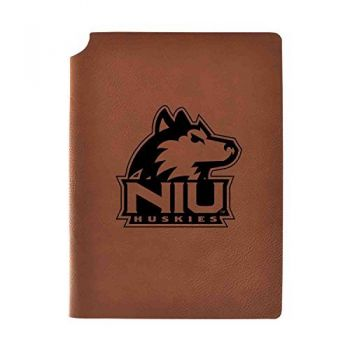 Northern Illinois University Velour Journal with Pen Holder|Carbon Etched|Officially Licensed Collegiate Journal|