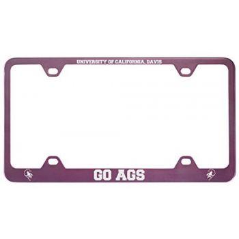 University of California, Davis -Metal License Plate Frame-Pink