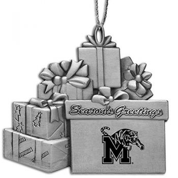 University of Memphis - Pewter Gift Package Ornament
