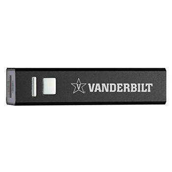 Vanderbilt University - Portable Cell Phone 2600 mAh Power Bank Charger - Black