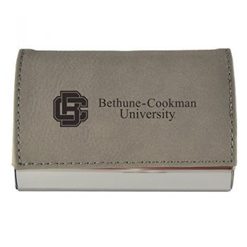 Velour Business Cardholder-Bethune-Cookman University-Grey