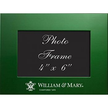The College of William & Mary - 4x6 Brushed Metal Picture Frame - Green