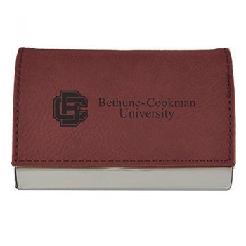 Velour Business Cardholder-Bethune-Cookman University-Burgundy