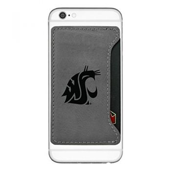 Washington State University-Cell Phone Card Holder-Grey