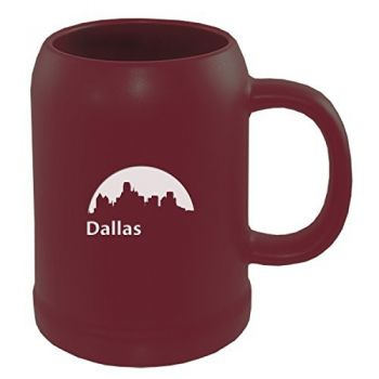 22 oz Ceramic Stein Coffee Mug - Dallas City Skyline