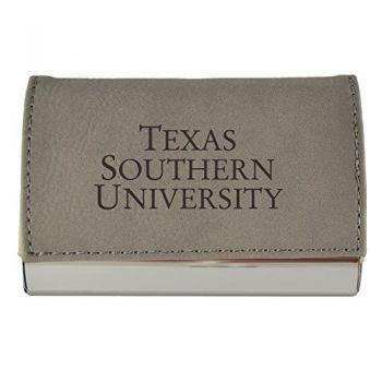 Velour Business Cardholder-Texas Southern University-Grey