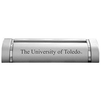 University of Toledo-Desk Business Card Holder -Silver