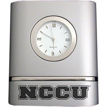 North Carolina Central University- Two-Toned Desk Clock -Silver