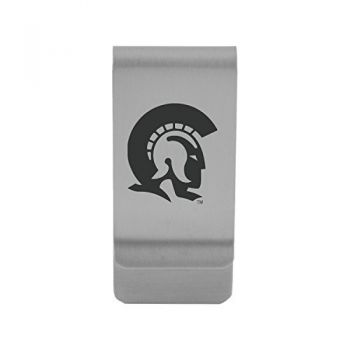 University of Arkansas At Little Rock|Money Clip with Contemporary Metals Finish|Solid Brass|High Tension Clip to Securely Hold Cash, Cards and ID's|Gold