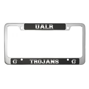 University of Arkansas At Little Rock -Metal License Plate Frame-Black