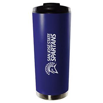 San Jose State University-16oz. Stainless Steel Vacuum Insulated Travel Mug Tumbler-Blue