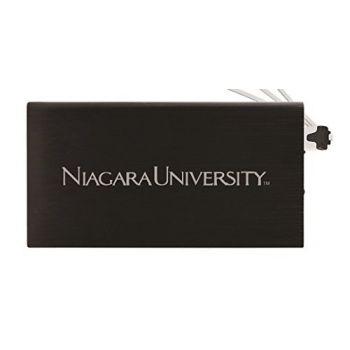 8000 mAh Portable Cell Phone Charger-Niagara University -Black