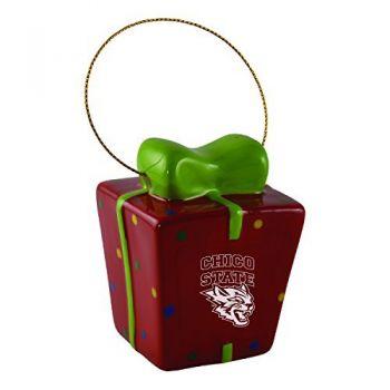 California State University, Chico-3D Ceramic Gift Box Ornament
