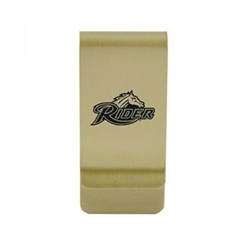 University of Richmond|Money Clip with Contemporary Metals Finish|Solid Brass|High Tension Clip to Securely Hold Cash, Cards and ID's|Silver