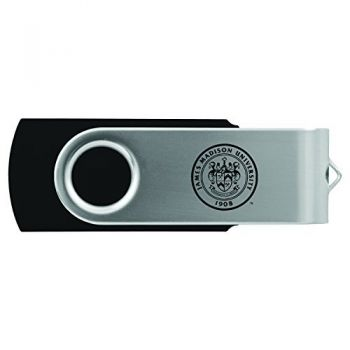 James Madison University-8GB 2.0 USB Flash Drive-Black