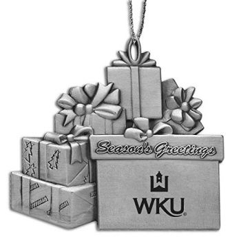 Western Kentucky University - Pewter Gift Package Ornament