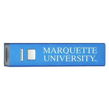 Marquette University - Portable Cell Phone 2600 mAh Power Bank Charger - Blue