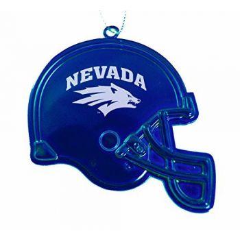 University of Nevada, Reno - Christmas Holiday Football Helmet Ornament - Blue