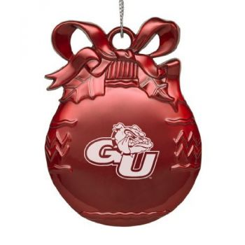Gonzaga Bulldogs - Pewter Christmas Tree Ornament - Red