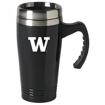 University of Washington-16 oz. Stainless Steel Mug-Black